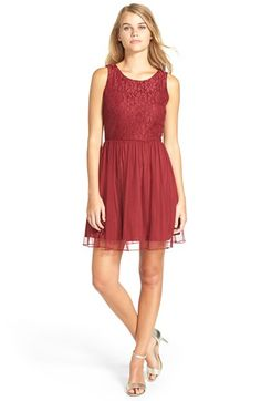 Speechless Floral Lace Skater Dress (Juniors) available at #Nordstrom