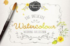 Watercolor wedding collection vol 2 by Lisa Glanz on Creative Market