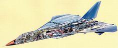North American F-108 Rapier cutaway