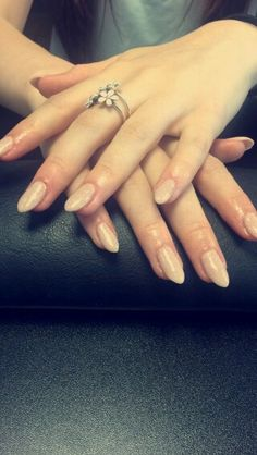 Biosculpture Gel tip extensions colour n¤ 2093 Ivory Beige with glitter