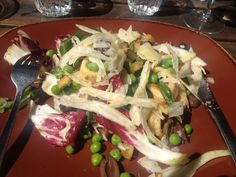 Delicious calamari salad @riverland