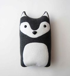 DIY Wolf Pattern Woodland Pillow Plush Fleece by FluffedAnimals