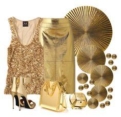 """Gold"" by lovelyluella ❤ liked on Polyvore featuring мода, Arteriors, Giuseppe Zanotti, STELLA McCARTNEY, Paco Rabanne, women's clothing, women's fashion, women, female и woman"
