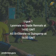 #Ligue1 #Lyonnais vs #StadeRennals at 14:00 GMT AS St-Etienne vs #Guingamp at 16:00 GMT   #Predict #Download #App