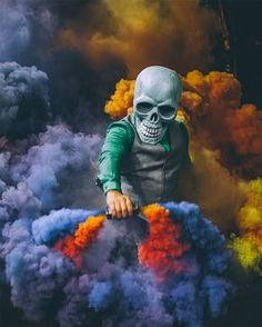 Skeleton of Color: Amazing Performance Art by Butch Locsin – Inspiration Grid Smoke Bomb Photography, Portrait Photography, Photography Ideas, Smoke Wallpaper, Smoke Pictures, Smoke Art, Colored Smoke, Alan Walker, Butches