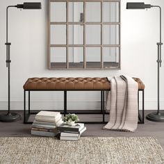 Three Ways to Decorate with Leather in the Bedroom Living Room Bench, Living Room Modern, Living Room Decor, Bedroom Decor, Bedroom Ideas, Padded Bench, Upholstered Storage Bench, End Of Bed Bench, Bench Decor
