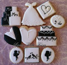 ...great wedding shower of bachelorette party cookies!