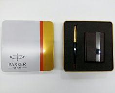 ## PARKER ## GIFT SET ## PEN & CARD HOLDER ## METAL BOX ##