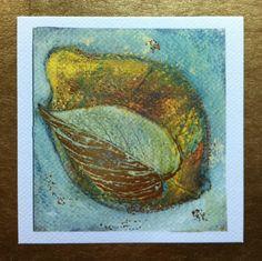 Lemon 12cm x 12cm limited edition print gilded by Cassandra Wainhouse