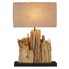 This Table lamp is  made of Driftwood that was carefully hand selected and put together by Scandinavian designers to give it this unique look,
