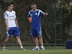 Argentina's Angel di Maria in practice session