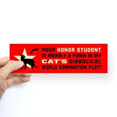 CAT World Domination Sticker  #cafepress #cats #humor