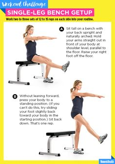 The Single-Leg Bench Getup Is a Gamechanger for Your Gams