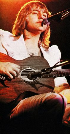 """Greg Lake - lead singer and guitarist from classical prog rockers, Emerson, Lake & Palmer. He wrote what became their most famous song, """"Lucky Man"""" when he was just 12 years old. A childhood friend of Robert Fripp's, he was previously cofounder and singer on the first two brilliant albums by King Crimson."""