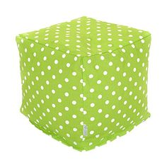 Majestic Home Goods Lime Small Polka Dot Cube Small -- This is an Amazon Associate's Pin. Locate the item on Amazon website simply by clicking the VISIT button