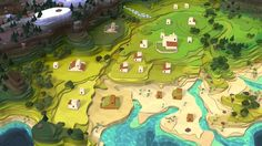 Godus Comes To Android Devices World Map Game, Map Games, Low Poly, Background Images, Different Styles, Game Art, Cube, Product Launch, Illustration