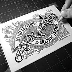 Oh...my...goodness... Hand Lettering by Jason Carne
