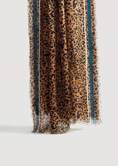 e6ce26433d304 Foulard imprimé léopard Foulards Imprimés, Rayures, Echarpe, Foulard  Imprimé Animal, Foulard À