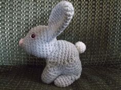 crochet gray bunny rabbit amigurumi