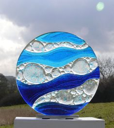 Fused Glass Artist / Whitby, North Yorkshire - Ailsa is a ceramic and glass artist based in Whitby, North Yorkshire specialising in fused glass ar - Glass Wall Art, Sea Glass Art, Stained Glass Art, Fused Glass, Window Glass, Blown Glass, Water Glass, Glass Fusion Ideas, Glass Fusing Projects