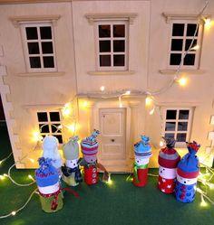 Christmas craft, toilet roll christmas carol singers. Deck the halls with toilet paper...lalalalalalalalala...