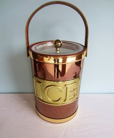 Georges Briard Ice Bucket - Vintage Ice Bucket - Copper Colored.