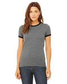 Women's Heather Jersey Ringer T-Shirt