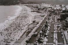 Vista aérea, Ipanema e Leblon, Rio de Janeiro, 1950.