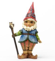 Jim Shore® Gnome With Owl Cane Statue