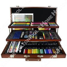 New ArtSkills 192 Piece Premium Artist Set with Real Wood Organizer Case