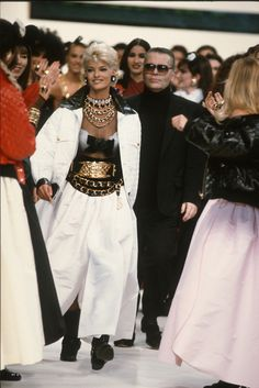 Linda Evangelista and Karl Lagerfeld, 1991