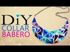 M COLLAR BABERO CON CDS - BIB NECKLACE WITH OLD CDS - YouTube  y más collares baberos.