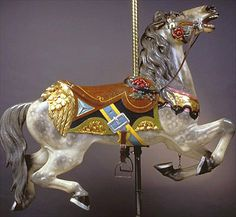 The PTC 'eagle horse' on Cafesjian's Carousel, St. Carosel Horse, Modern Dollhouse, Victorian Dollhouse, Wooden Horse, Painted Pony, Merry Go Round, Animal 2, Pretty Horses, Fantasy