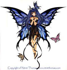 Nene Thomas Art | Nene Thomas - Midnight Blue