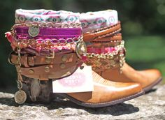 Items similar to brand NEW any style & size boots Upcycled style REWORKED new COWBOY Boots - boho boots - western boots on Etsy Gypsy Boots, Boho Boots, Cowgirl Boots, Western Boots, Western Cowboy, Western Style, Bota Country, Estilo Country, Botines Boho