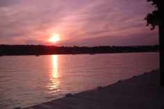 Sunset over Harvey's Lake, PA