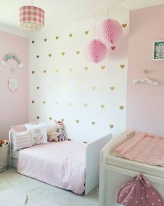 I quite simply prefer this finish color for these Boy And Girl Shared Bedroom, Little Girl Rooms, Girls Bedroom, Baby Room Decor, Nursery Room, Room Decor Bedroom, Fantasy Bedroom, Room Interior, Kids Room