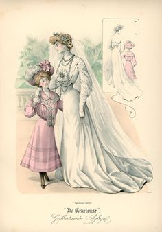 1903. wedding dress, De Gracieuse, June