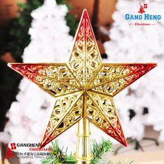 Christmas decoration supplies 20cm cutout light quality tree top star crestfallenly 60g-inChristmas Decoration Supplies from Home  Garden on Aliexpress.com $7.99