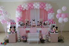 decoração festa infantil minnie rosa vintage - Pesquisa Google