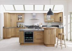 Natural wood kitchens from Lark & Larks. Browse our extensive range of bespoke, made to measure natural wood kitchen units, cabinets and doors online. Oak Kitchen Cabinets, Kitchen Cabinet Colors, Kitchen Units, Kitchen Doors, Kitchen Paint, Kitchen Flooring, Kitchen Ideas, Kitchen Ranges, Smart Kitchen