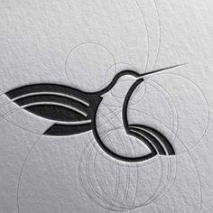 "Goran Jugovic / Горан Југовић ( ""Hummingbird"" (kolibri) Design For Client Hasnat. Graphisches Design, Design Elements, Logo Animal, Logo Image, Inspiration Logo Design, Logo Minimalista, Bird Logos, Origami Tutorial, Art Graphique"