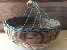Knitting basket- craft basket- fruit basket - harvest basket- driftwood basket