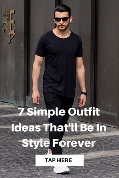 Simple outfit ideas for men. Mens Fashion Blog, Best Mens Fashion, Fashion Tips, Men's Fashion, Fashion Ideas, Fashion Trends, Fawcett, Der Gentleman, Hommes Sexy