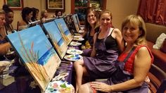 Great turn out at Prego Ristaurante in Irvine today!!! The mood was relaxed yet anxious to paint while enjoying the delicious food at Pregos!! Everyone did an amazing job! I couldn't be prouder of the results! Enjoy the pictures and tag yourself and friends & I hope to see you at our next event! #HappyHourPaint #PregoRistaurante #painting #SmilePaint