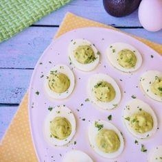 Avocado Deviled Eggs...A healthier version