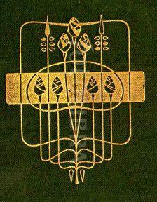 Talwin Morris Glasgow School book design (An original highly-stylized Art Nouveau design for a book binding, by leading Glasgow School. Book Cover Art, Book Cover Design, Book Design, Book Art, Art And Craft Design, Design Art, Antique Books, Vintage Books, Illustrations
