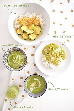 Toddler Meals 49863 Parents / baby recipe for courgette curry with coconut milk and coral lentils, for babies and the whole family. The recipe is adapted to each age and each stage of food diversification, from 4 months. Baby Food Recipes, Sweet Recipes, Vegan Recipes, Toddler Meals, Kids Meals, Zucchini Curry, Baby Cooking, Coconut Milk Curry, Diy Food