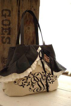 の画像 Handmade Bags, Handmade Crafts, Sewing Case, Frame Purse, Basket Bag, Couture, Fashion Bags, Purses And Bags, Shabby Chic