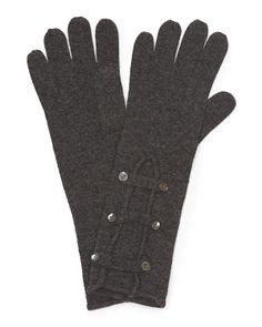 Women's Cashmere Military Gloves - FORTE $39.99 - T.J. Maxx